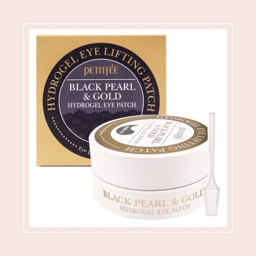 Black Pearl & Gold Hydrogel Eye Patch (Petitfee)