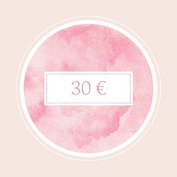 Gutschein im Wert von 30€