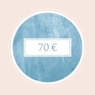 Gutschein im Wert von 70€
